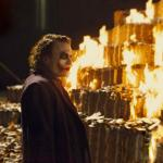Joker Burning Money meme