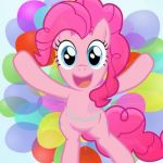 Pinkie Pie My Little Pony I'm back! | ME WHEN I SEE THE COLOR PINK.... MY MOM WHEN SHE SEES MOVIES!!!! | image tagged in pinkie pie my little pony i'm back | made w/ Imgflip meme maker