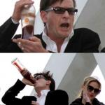 Charlie Sheen none of your business meme