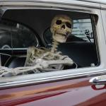 Waiting Skeleton Car meme