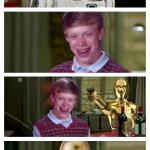 Futuristic Bad Luck Brian Pick Up Lines meme