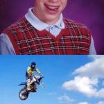 Bad Luck Brian gets motorcycle meme