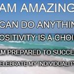 Navarre Beach  | I AM AMAZING I CAN DO ANYTHING POSITIVITY IS A CHOICE I CELEBRATE MY INDIVIDUALITY I AM PREPARED TO SUCCEED | image tagged in navarre beach | made w/ Imgflip meme maker