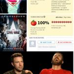 Batman v. Superman vs Civil War meme