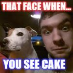 Jacksepticeye | THAT FACE WHEN... YOU SEE CAKE | image tagged in jacksepticeye | made w/ Imgflip meme maker