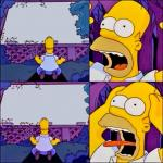 Homer With White Signs Template meme