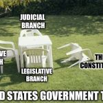 We 'The People' Will Rebuild...  | EXECUTIVE BRANCH LEGISLATIVE BRANCH JUDICIAL BRANCH THE CONSTITUTION UNITED STATES GOVERNMENT TODAY | image tagged in we will rebuild,constitution,america,government,we the people,political meme | made w/ Imgflip meme maker
