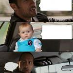 The Rock Driving Dad Joke Baby meme