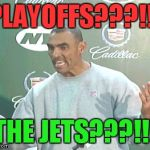 Herm Edwards Meme | PLAYOFFS???!!! THE JETS???!!! | image tagged in memes,herm edwards | made w/ Imgflip meme maker