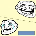 Crying Troll Face meme