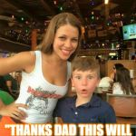 "1ST Time at HOOTERS | ""THANKS DAD THIS WILL FEED ME FOR A WEEK!"" 