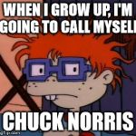 Chuckchuckchuck Meme | WHEN I GROW UP, I'M GOING TO CALL MYSELF CHUCK NORRIS | image tagged in memes,chuckchuckchuck | made w/ Imgflip meme maker