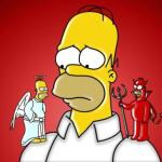 Homer Simpson Angel Devil meme
