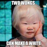 Albino asian baby