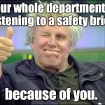 Gary Busey Safety Poster