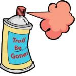 Troll Be Gone Spray meme