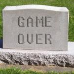 Tombstone Game Over meme