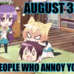 8/30 Bite People Who Annoy You Day: Chibi meme