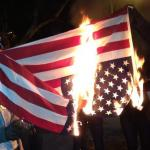 Flag Burning Upside Down meme