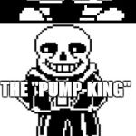 "A Pumpkin pun | WHO'S THE KING OF PUMPKINS THE ""PUMP-KING"" 