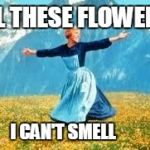 Look At All These Meme | ALL THESE FLOWERS I CAN'T SMELL | image tagged in memes,look at all these | made w/ Imgflip meme maker