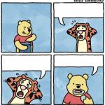 sweet jesus pooh you're not eating honey meme