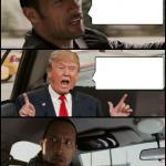 The Rock Driving Trump meme