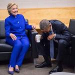 hillary obama laughing meme