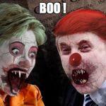 Trump Clinton Hillary Halloween Blank Template Imgflip