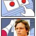 decisions | JOIN THE DARK SIDE, WE HAVE COOKIES JOIN THE LIGHT SIDE. | image tagged in decisions | made w/ Imgflip meme maker