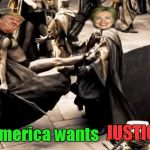 "Time to see if Trump can really ""Lock her up""! 