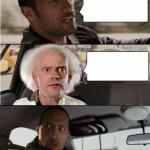 The Rock Driving The Doc meme