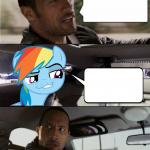 The Rock Driving MLP meme