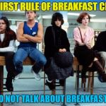Don't you... Talk about me... | THE FIRST RULE OF BREAKFAST CLUB IS YOU DO NOT TALK ABOUT BREAKFAST CLUB | image tagged in breakfast club,memes,movies,80s films,films,80s | made w/ Imgflip meme maker