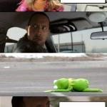 Rock Driving Miss Piggy meme