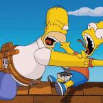 Homer choking Bart meme