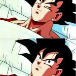 goku sleeping wake up meme