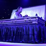 Undertaker in coffin meme