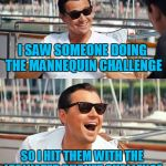 I SAW SOMEONE DOING THE MANNEQUIN CHALLENGE SO I HIT THEM WITH THE ICE WATER BUCKET CHALLENGE | image tagged in memes,leonardo dicaprio wolf of wall street | made w/ Imgflip meme maker
