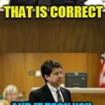Bad husband! | A WOMAN SHOT HER HUSBAND BECAUSE HE STEPPED ON HER FRESHLY MOPPED FLOOR? THAT IS CORRECT AND IT TOOK YOU 20 MINUTES TO ARREST HER?   WHY? TH | image tagged in lawyer and cop testifying | made w/ Imgflip meme maker