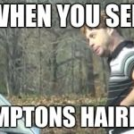 ed bassmaster would y alook at that | WHEN YOU SEE HAMPTONS HAIRLINE | image tagged in ed bassmaster would y alook at that | made w/ Imgflip meme maker
