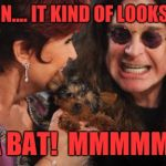 Selfish Ozzy Meme | HOLD ON.... IT KIND OF LOOKS LIKE.... A BAT!  MMMMM! | image tagged in memes,selfish ozzy | made w/ Imgflip meme maker