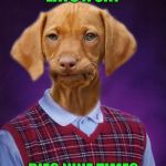 Bad Luck Raydog | EATS A CAT DIES NINE TIMES | image tagged in bad luck raydog,memes,funny,no nine lives,dogs,animals | made w/ Imgflip meme maker