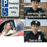 disabled parking meme