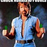 Chuck Norris isn't late for upvote week, he's actually just extremely EARLY! | CHUCK NORRIS APPROVES | image tagged in chuck norris upvote | made w/ Imgflip meme maker