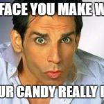 Zoolander | THE FACE YOU MAKE WHEN THE SOUR CANDY REALLY IS SOUR | image tagged in zoolander,funny,memes,funny memes | made w/ Imgflip meme maker