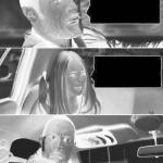 The Rock Driving creepy meme