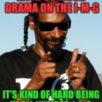 Straight Outta Trollville. | WITH SO MUCH DRAMA ON THE I-M-G IT'S KIND OF HARD BEING TROLL NUMBER 1-2-3. | image tagged in snoop dogg approves,123troll,trolling | made w/ Imgflip meme maker
