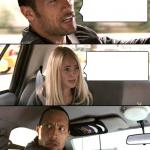 The Rock driving - brighter meme
