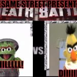MMA: Maniacal Muppet Assault | SESAME STREET PRESENTS KIIILLLLL!                                                                                     DIIIIIIE! | image tagged in death battle template,funny,sesame street,dark humor,society,television | made w/ Imgflip meme maker